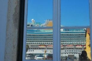 de cruisehaven bij de Taag