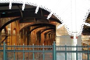 het kantwerk van Liverpoolstation