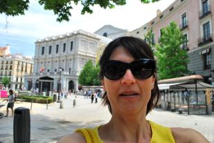 vlakbij het Teatro Real