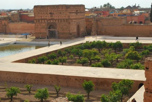 het El Badi-complex met zijn 360 kamers