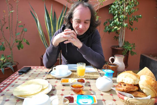 ontbijt op het dakterras