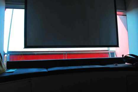 vanuit het bed naar 'TV' kijken...