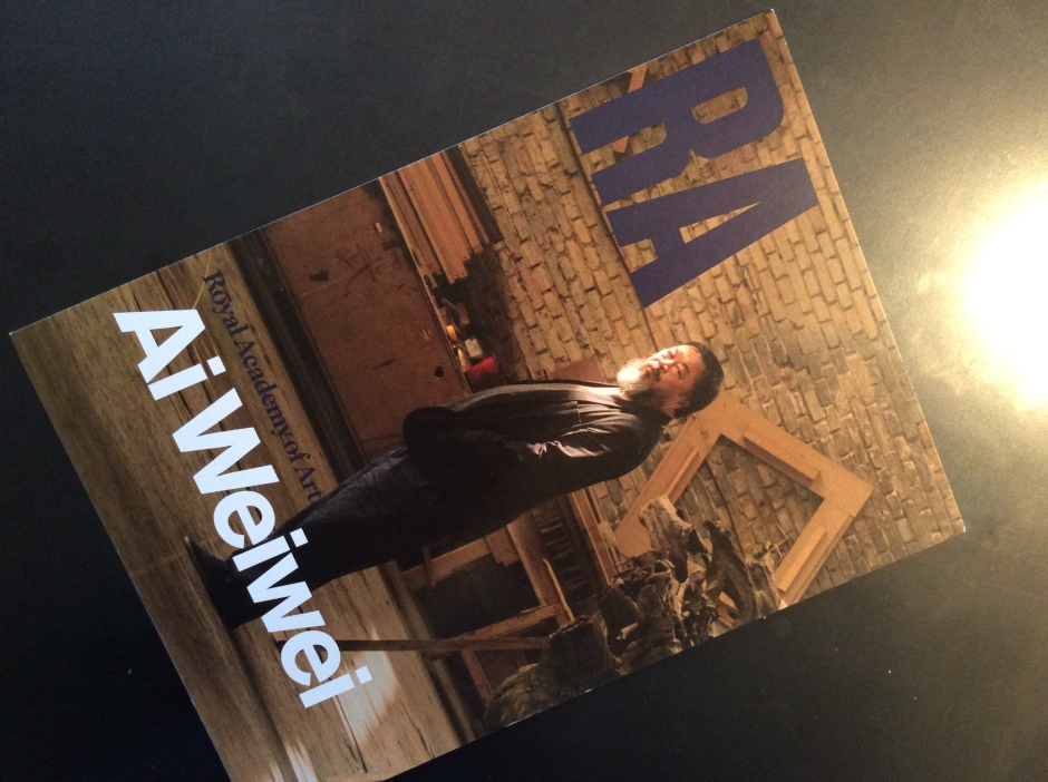 Flyer Ai wei wei Royal Academy London