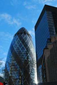 the 'Gherkin' van Norman Foster in London