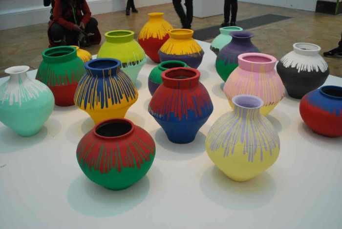 Coloured vases, 2015