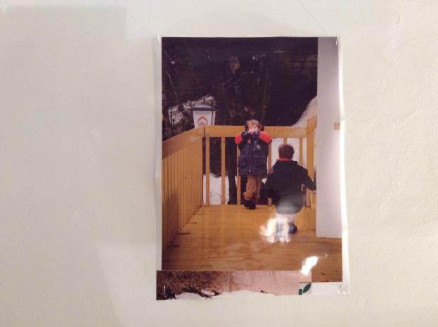 Aron Wouters vertrekt van een foto uit zijn kindertijd.