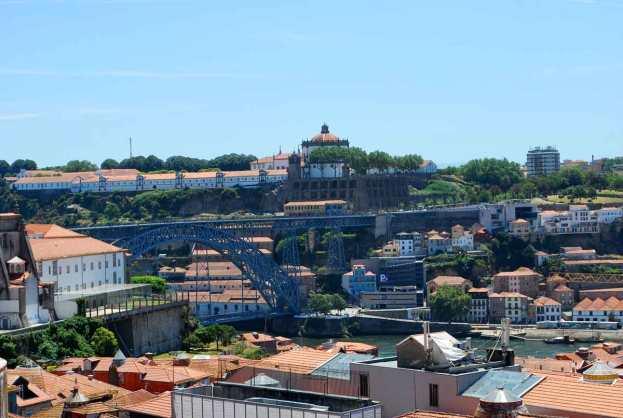 het vroegere klooster en de beroemde Ponte Luis I