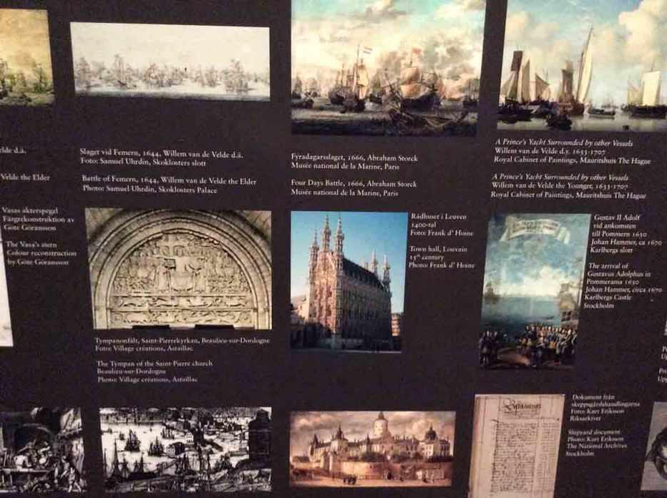voorbeelden van hoe religieuze en wereldse beelden door elkaar gebruikt werden op openbare gebouwen en schepen - een vertrouwd beeld!