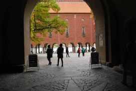 de binnenkoer waar de Nobelprijszaal op uitgeeft