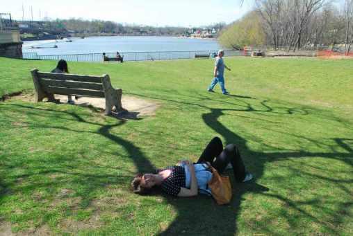 stevige work-out langs de rivier